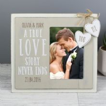 Personalised Love Story 4x6 Wooden Photo Frame P0111B99